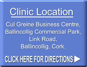 Cork Anxiety Clinic location is Cul Greine Business Centre, Ballincollig Commercial Par, Ballincollig, Cork